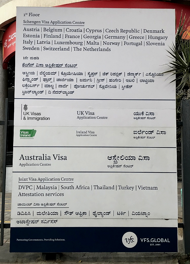 VFS Global Bangalore - How to get Thailand Visa in Bangalore